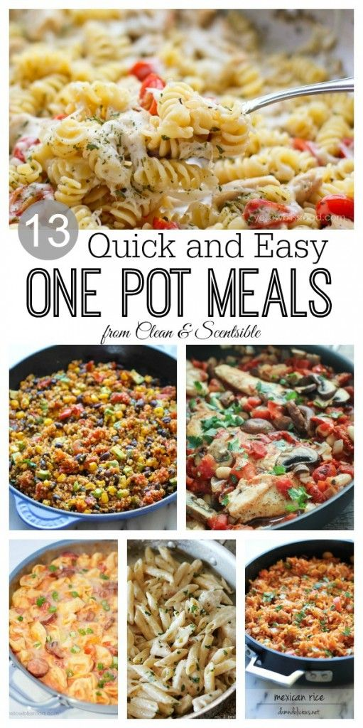 One-Pot-Meals - This site has a lot of one pot recipes that look good!