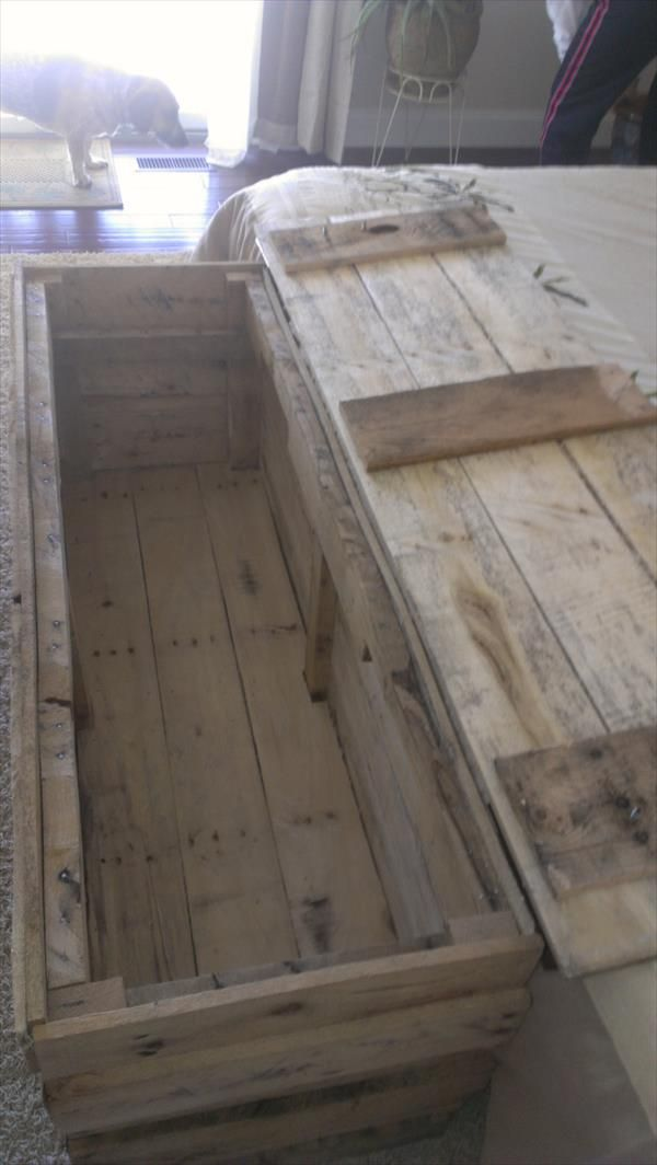 Vintage Pallet Wood Trunk/Chest | 101 Pallets: for David's things