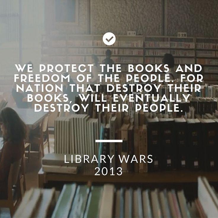 #LibraryWars, film kombinasi genre sci fi, aksi, dan [komedi] romantis dengan penyataan-pernyataan ideologis yang serius. #blogpost #moviereview #ulasanfilm #pictquotes #moviequotes #japanmovie #canva #quote #library