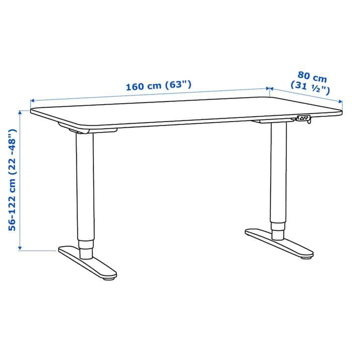Bekant Desk Sit Stand White 63x31 1 2 Schreibtisch