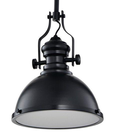 Vintage Industriële Hanglamp Zwart Met Diffuser 32cm - Hal Lampen