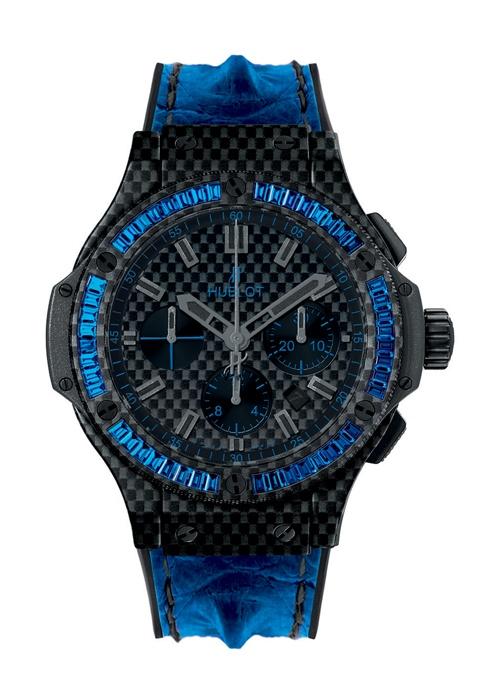 Big Bang Carbon Bezel Baguette Blue Sapphires 44mm Chronograph watch from Hublot