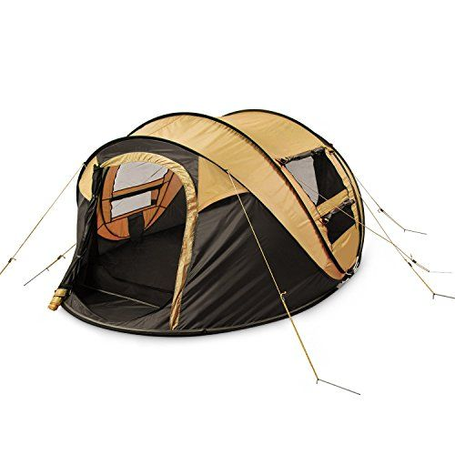 FiveJoy Instant Pop Up Tent u2013 Set Up in Lightning Speed Easy Fold Up into Portable Carrying Case Including Stakes u2013 Ideal Automatic Shelter for Family ...  sc 1 st  Pinterest & 22 best Pop Up Camping Tent images on Pinterest | Tent Tents and ...