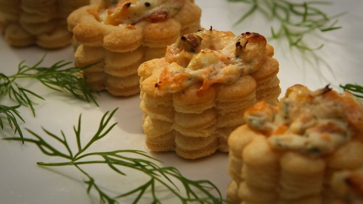 salmon and spring onion vol-au-vents