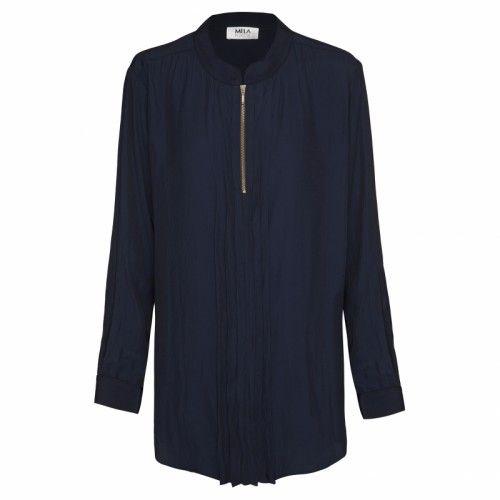 Mela Purdie Pleat Zip Shirt - Mousseline