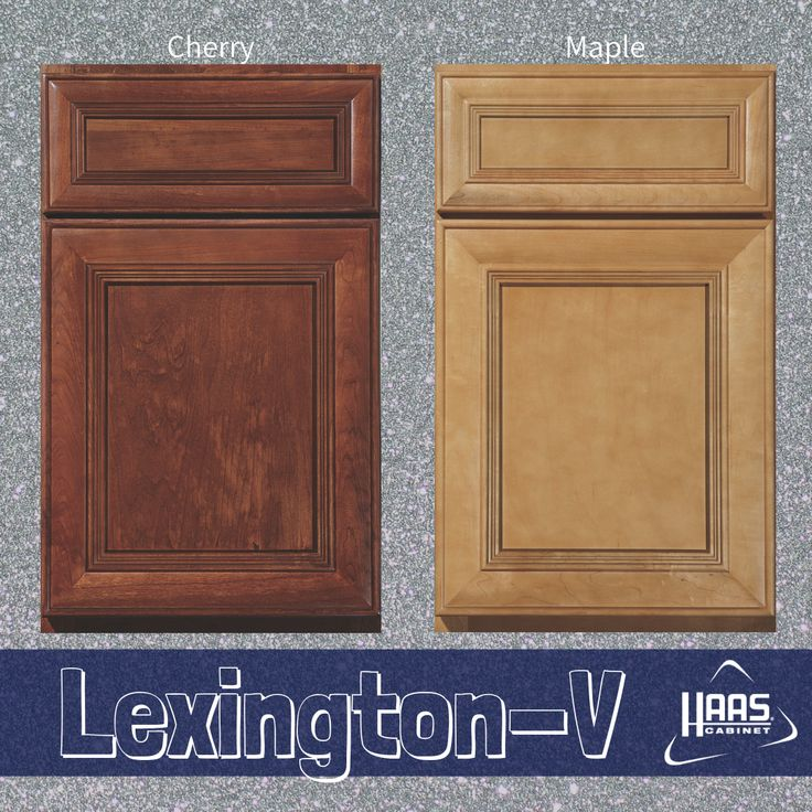 Lexington-V Door Style on Cherry and Maple ©️Haas Cabinet ...