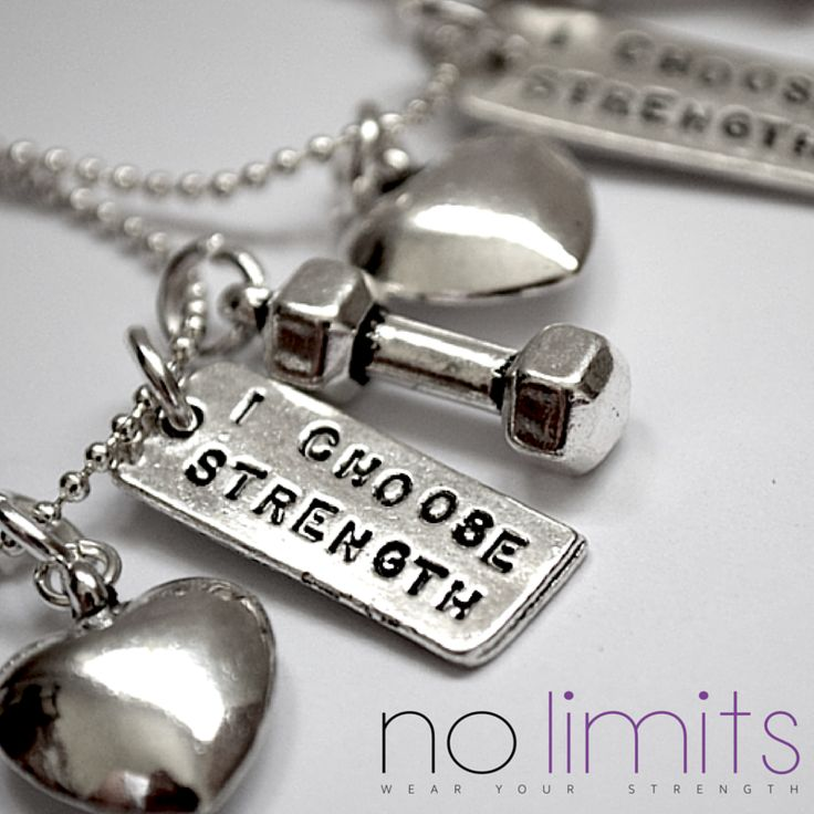 www.NoLimits.net.au Handmade fitness inspired jewellery.  From the Fit42 range, purchase one for yourself and one for your gym buddy.  Short fine chain necklace with heart, dumbbell and strength charm