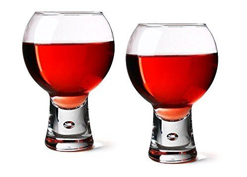 Alternato Wine Glasses 19oz / 540ml – Pack of 2   Red Wine Glasses, Short Stem Glasses, Bubble Base Glasses from Durobor: Alternato Wine…