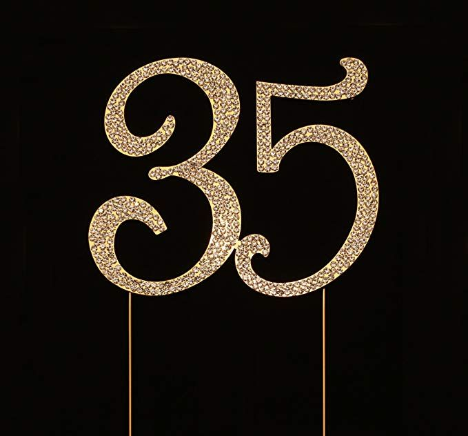 Number 35 For 35th Birthday Cake Topper, 35th Anniversary