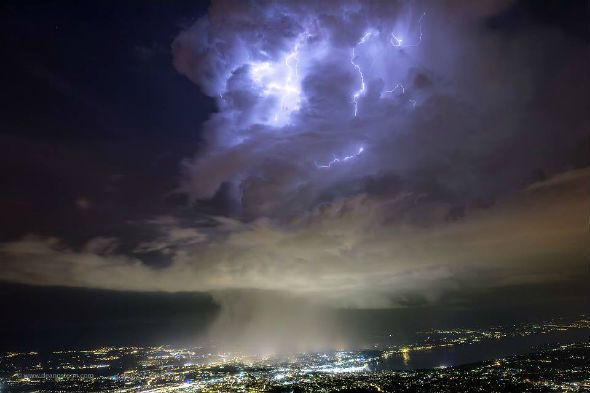 Strange Clouds Over CERN: Portals to another dimension opens above the LHC?