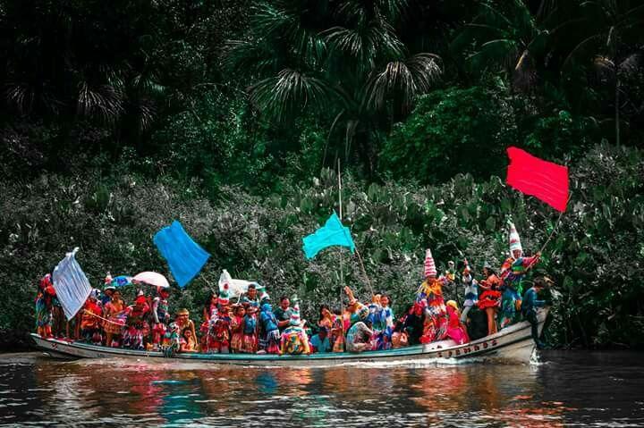 Carnaval das águas, Rio Joróca, Cametá, Pará, Amazônia.