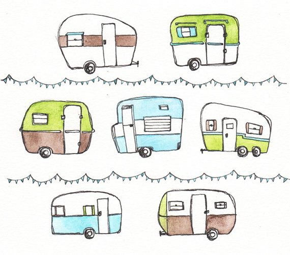 how to draw a rv