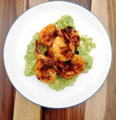 Spicy Peel and Eat Shrimp with Avocado