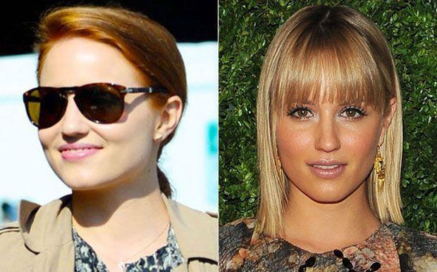 Dianna Agron mudou sutilmente o cabelo: ela pintou de ruivo alaranjado, tipo ruivo natural mesmo.