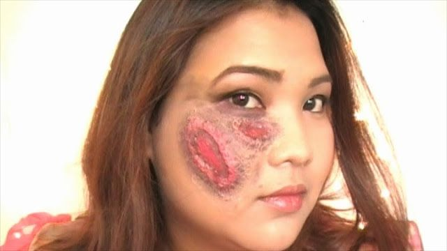 From Bare Hands: How To: Halloween Look: Wound/Scar Makeup