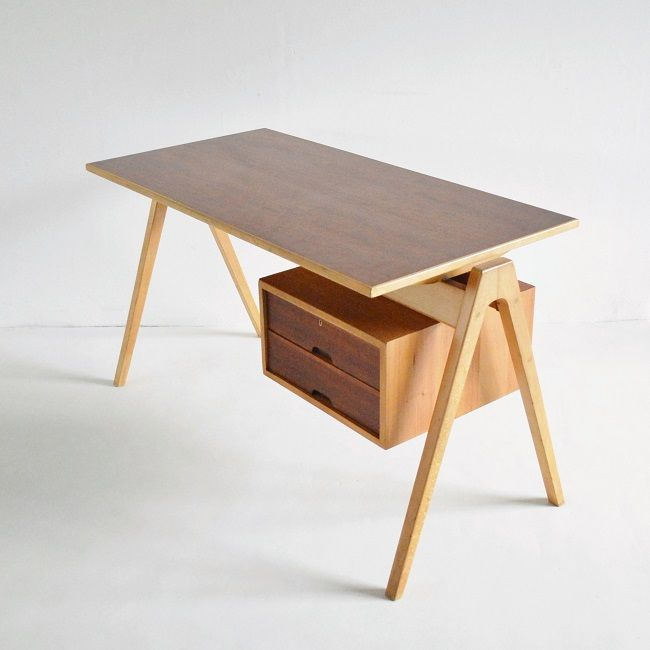 beton brut robin day hille desk  fun- niture  Pinterest  책상, 가구 및 테이블