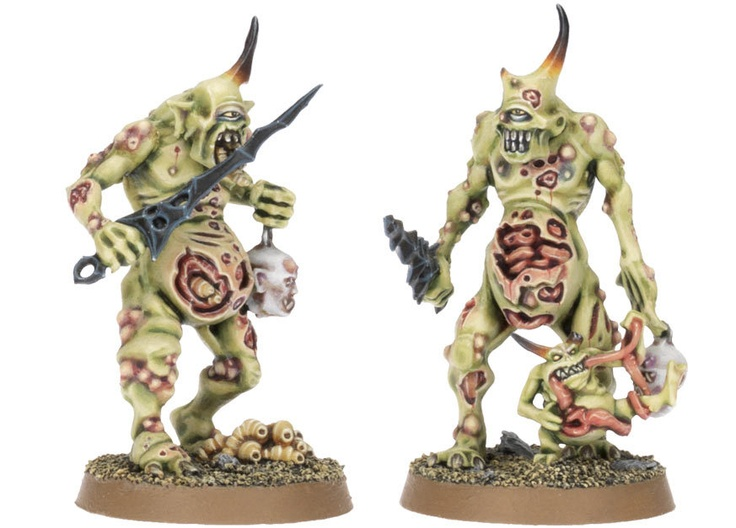 Plaguebearers of Nurgle for the Warhammer game by Games Workshop.
