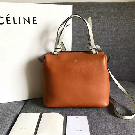 New Celine Bags 2017 Summer Small Soft Cube Bag In Tan Smooth