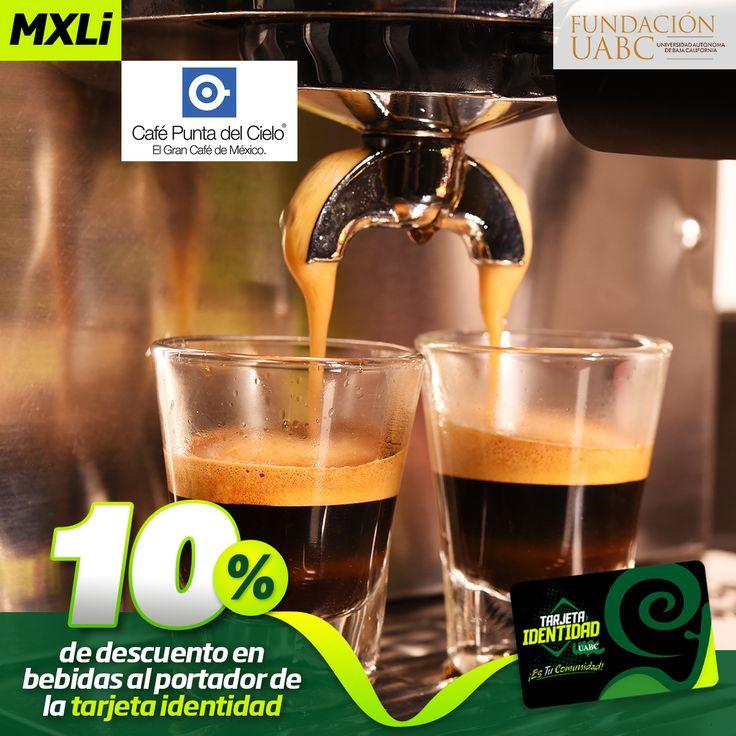 Tus bebidas favoritas en Café Punta del Cielo a un súper descuento.  Presenta tu Tarjeta Identidad y recibe 10% de descuento, no aplica en otras promociones.
