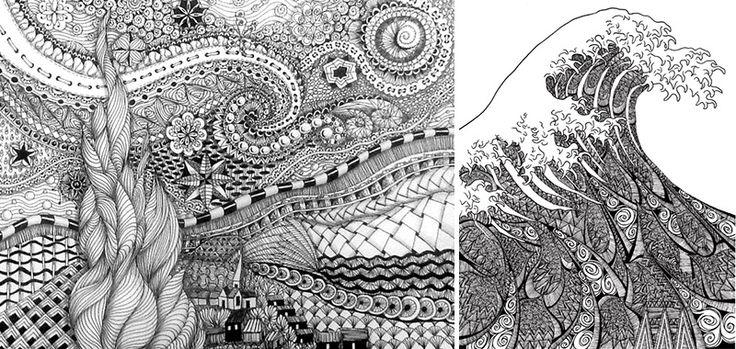 Scarabocchiare ad arte il doodling didatticarteblog for Disegni di paesaggi colorati