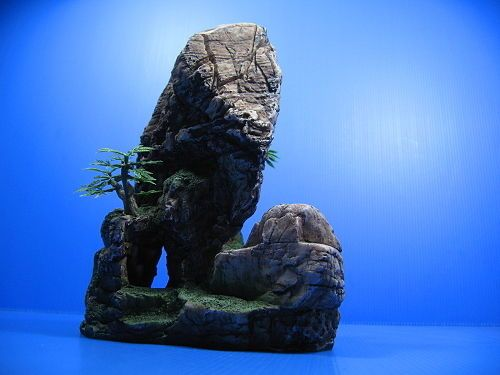 85 best images about aquarium decor rock oranament wood for Stone mountain fishing