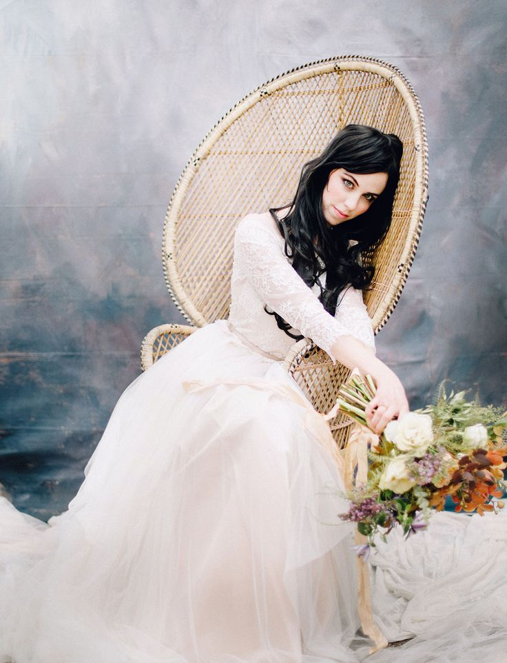 Dance Inspired Shoot Gown by Divine Atelier - Image by Deidre Lynn Photography Florals by Splendor of Eden Rentals from Something Old Event Rentals Makeup from B.Loved Stylists
