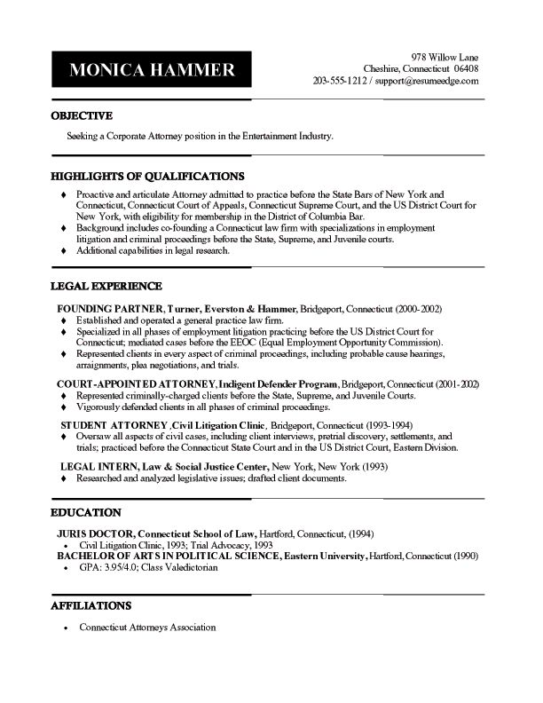 Best 25+ Examples of resume objectives ideas on Pinterest Good - attorney resume