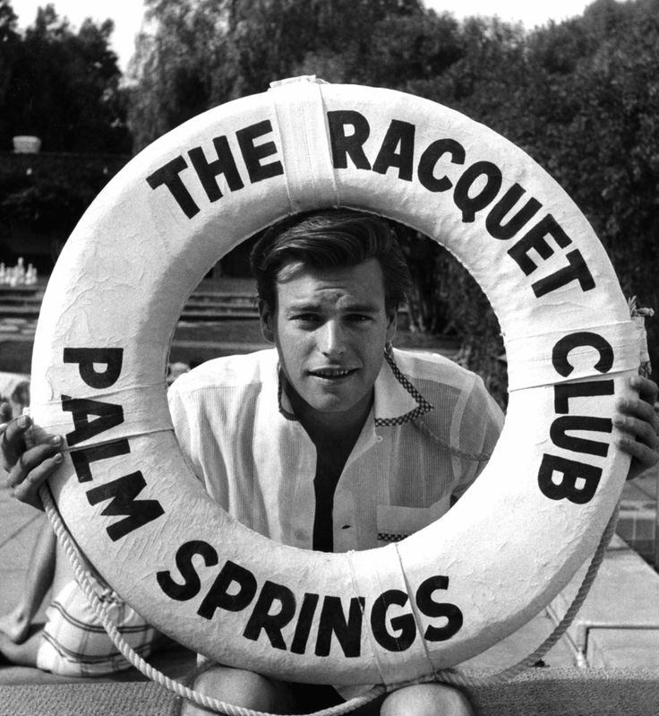 Robert Wagner at The Racquet Club ca 1956