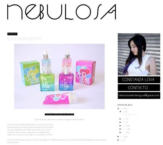 Abierto. Concurso Gelatti In Love gracias a Constanza en su Blog que se llama NebulosaVerdeAgua.blogspot, las invitamos  a participar suerte a todas