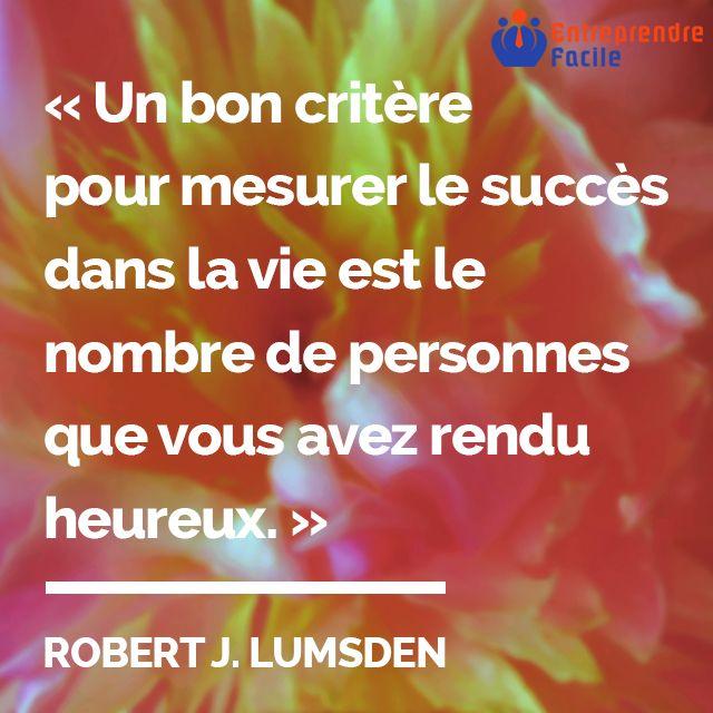 """#citation : """"Un bon critère..."""" #entreprendre #entreprendrefacile #entrepreneur"""