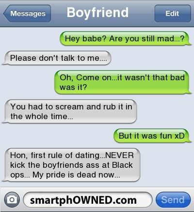 funny first dating messages