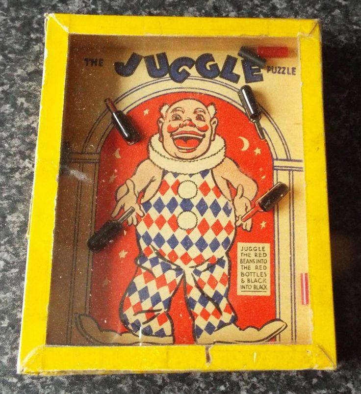"""Vintage """"The Juggle"""" Dexterity Puzzle Game - R. Journet"""
