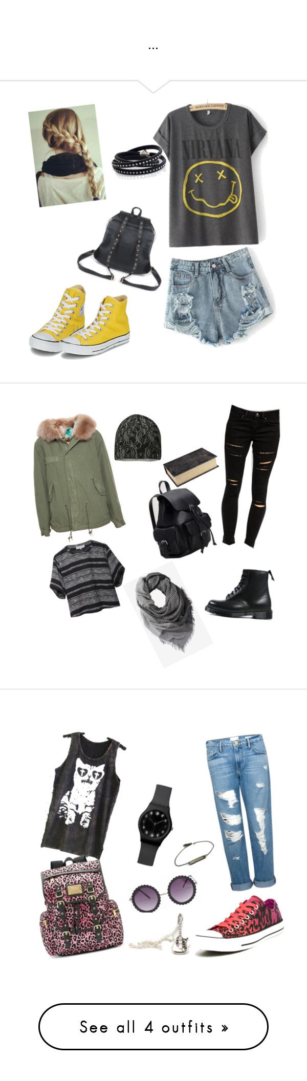 """""""..."""" by zana-k ❤ liked on Polyvore featuring Converse, Nila Anthony, Sif Jakobs Jewellery, Mr & Mrs Italy, ASOS, Dr. Martens, Outdoor Research, Apiece Apart, Forever 21 and Pier 1 Imports"""