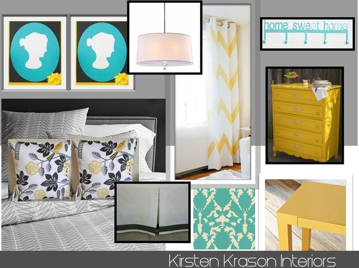 Teal And Yellow BedroomsBedroom