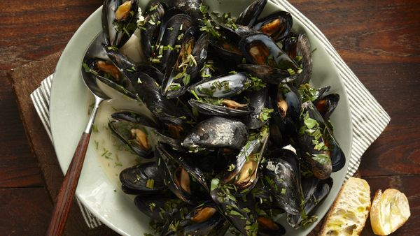 Try this recipe for Beer-Steamed Mussels from PBS Food.
