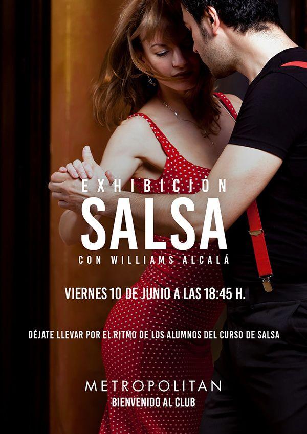 Exhibición de Salsa con Williams Alcalá este viernes 10 de Junio a las 18:45 h. en Metropolitan Abascal.