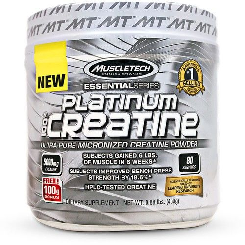 MuscleTech Platinum 100% Creatine 400 Grams (80 Servings) 5000MG Micronized creatine Creatine
