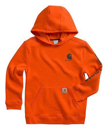 Look what I found on #zulily! Blaze Orange Carhartt Logo Pullover Hoodie - Boys #zulilyfinds