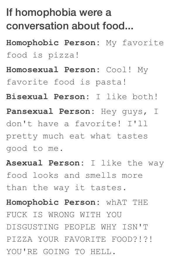 Funny good analogy for sexuality. That is such a good way to describe asexuality! Never thought of it like that