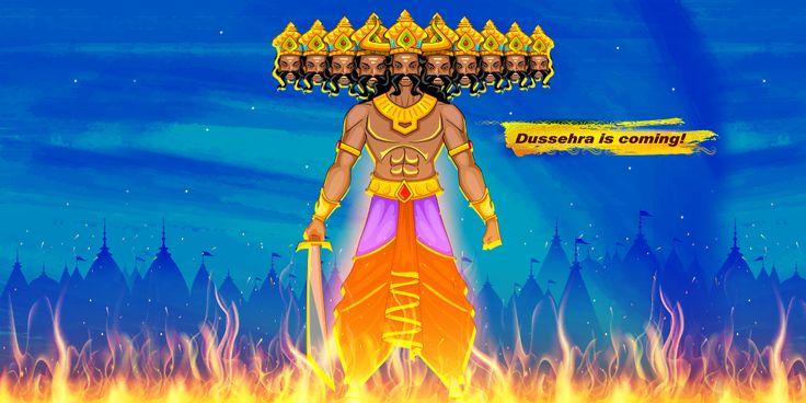 Burning Ravana's ten-headed effigy on Dussehra symbolizes overcoming one's negative traits like Kama Vasana, Krodha, Moha, Lobha, Mada, Matsara, Manas, Buddhi, Chitta, and Alankara. #IndianCulture