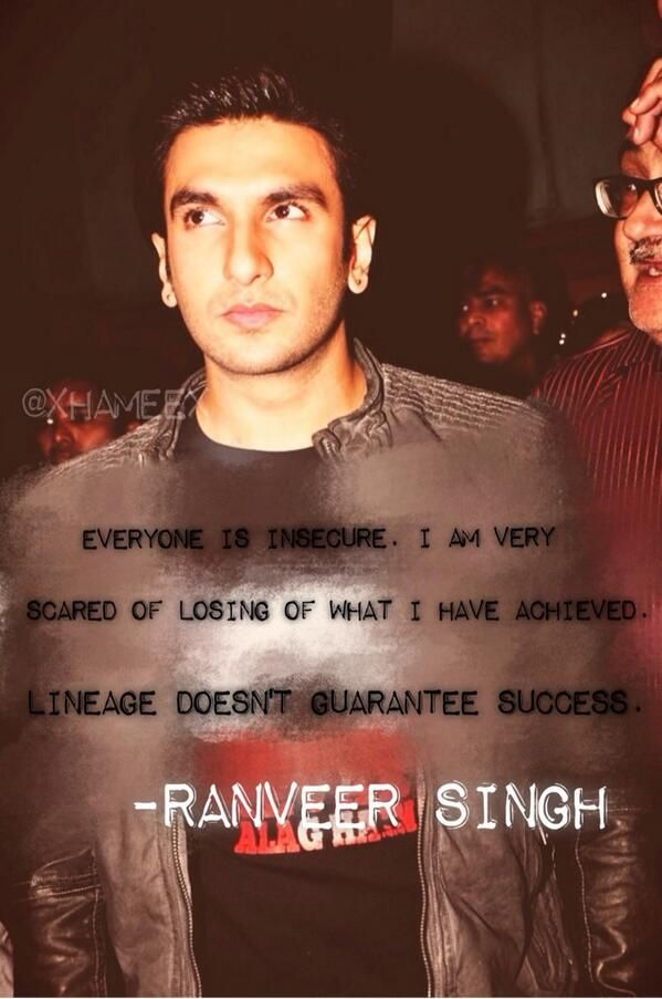 @xhameex: that's the secret to success superman, slay them all love! @RanveerOfficial 's quote!