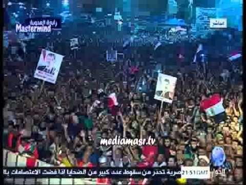 طفل دمه خفيف بيقلد مرسي على منصة رابعة