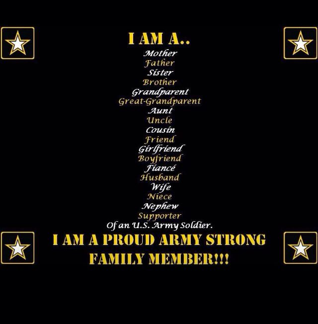 Proud Army Family military pictures/quotes Pinterest