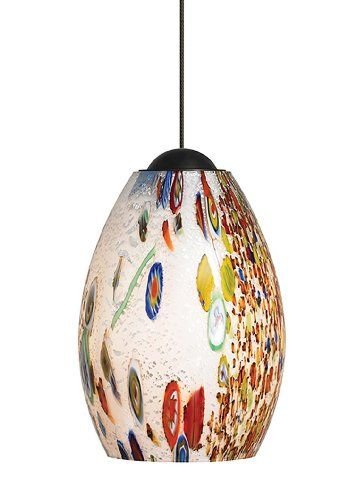 Check Out The LBL Lighting Mini Monty Single Light LED Pendant In Bronze  With Opal Shade