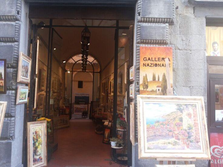la galleria a Cortona