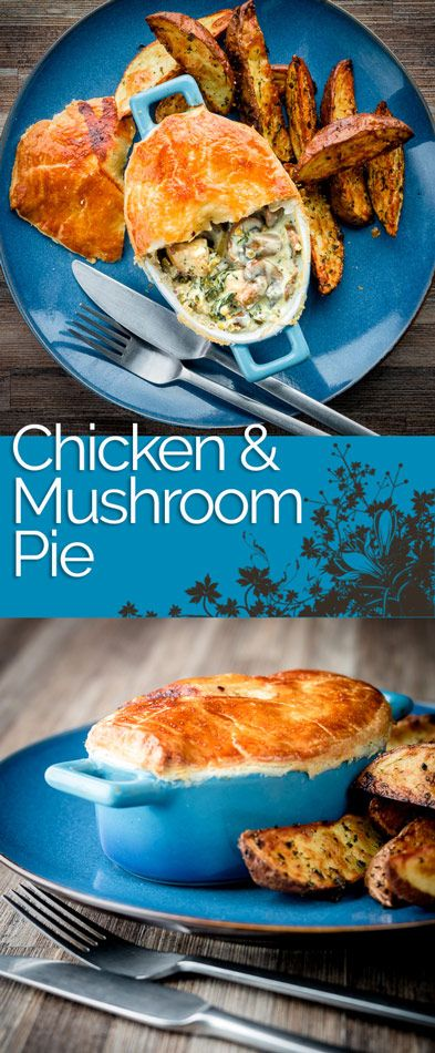 Chicken and Mushroom Pie is an all time classic pie, this one takes the pot pie approach using shop bought puff pastry for a quick and simple midweek dinner
