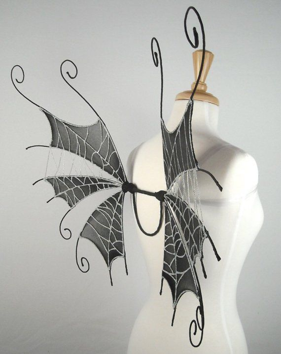 Fairy Wings - Ideal for dark fairy costume,Halloween ...