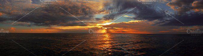 Landscape Sunset by Yandauga on @creativemarket