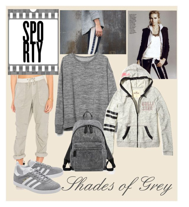 """""""shades of grey sporty"""" by oripandora on Polyvore featuring James Perse, Gap, Hollister Co., Marc Jacobs and adidas Originals"""