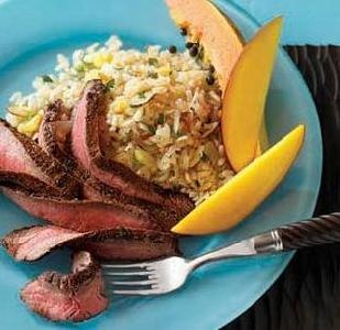 Caribbean Flank Steak & Coconut Rice